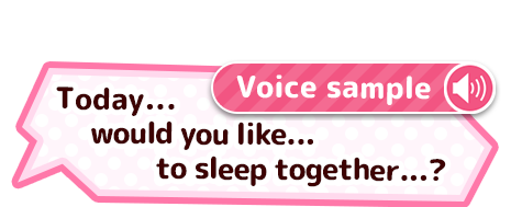 "Voice sample ""Today... would you like... to sleep together...?"""